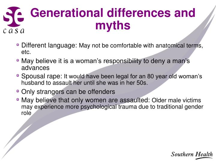 Generational differences and myths