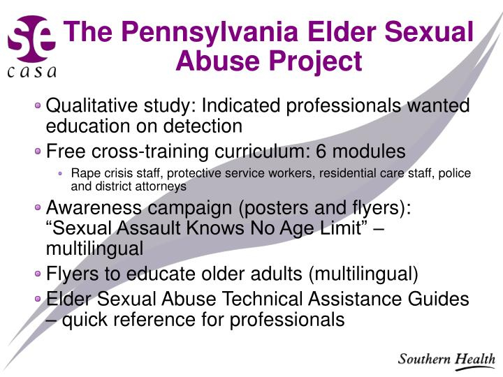 The Pennsylvania Elder Sexual Abuse Project