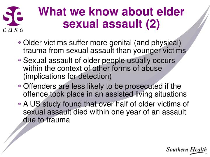 What we know about elder sexual assault (2)