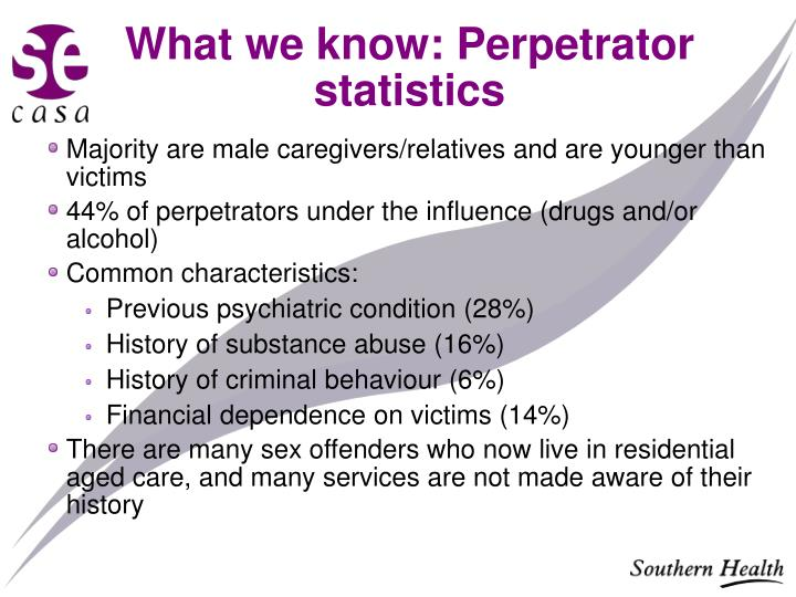What we know: Perpetrator statistics
