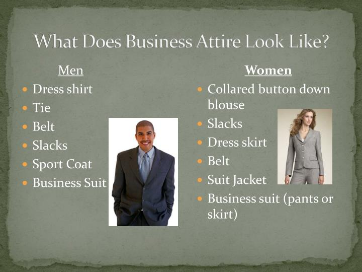 What Does Business Attire Look Like?