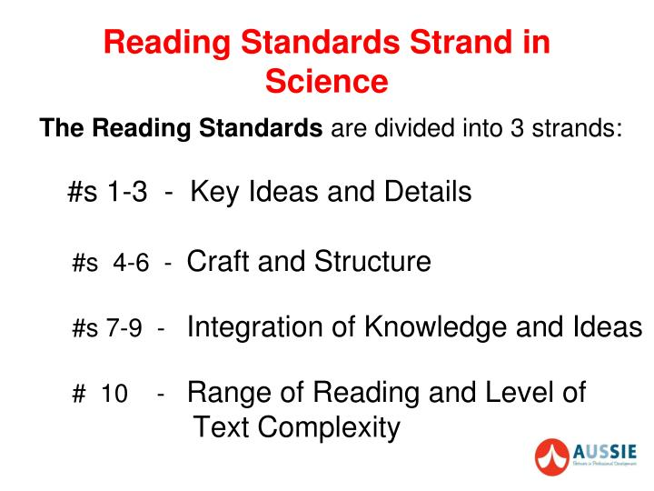 Reading Standards Strand in Science