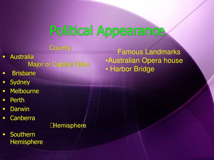 Political Appearance