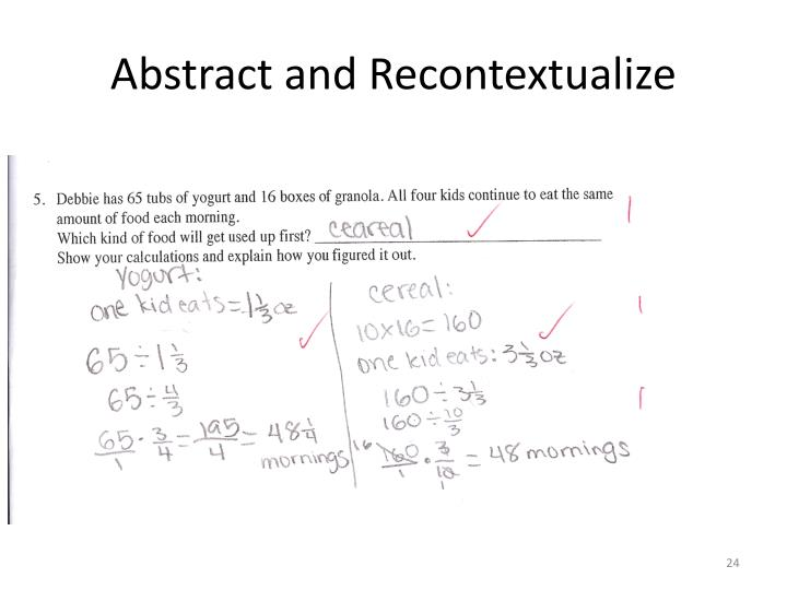 Abstract and Recontextualize