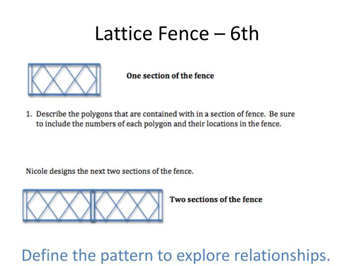 Lattice Fence – 6th