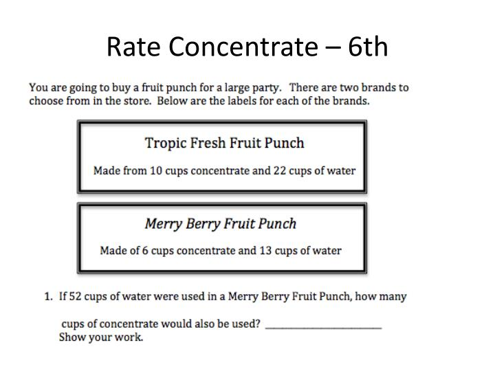 Rate Concentrate – 6th