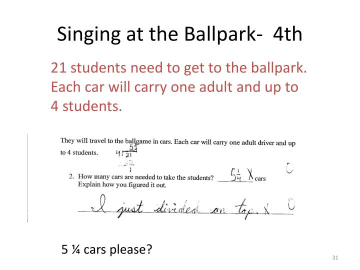 Singing at the Ballpark-  4th