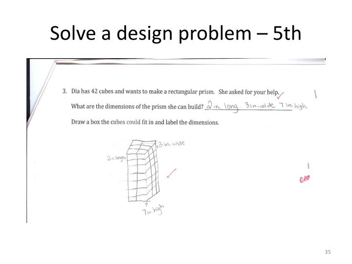 Solve a design problem – 5th