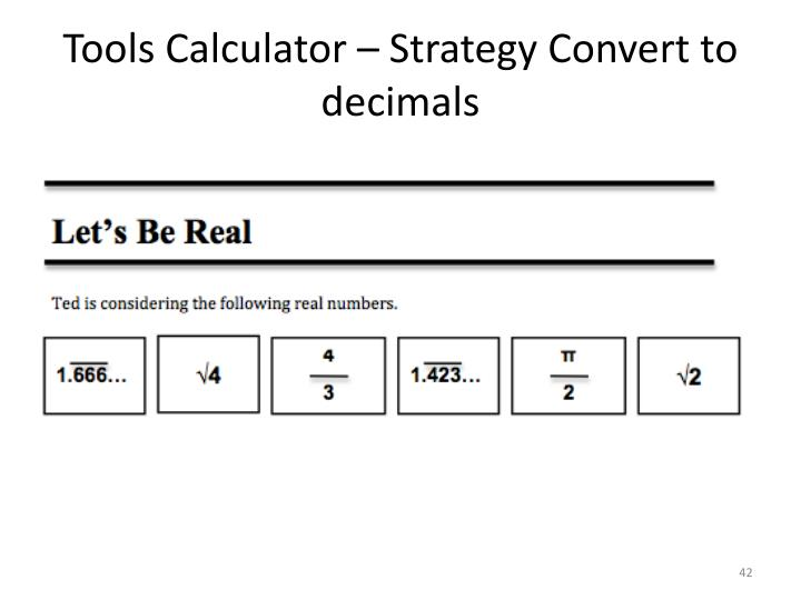 Tools Calculator – Strategy Convert to decimals