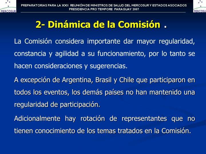 2- Dinámica de la Comisión