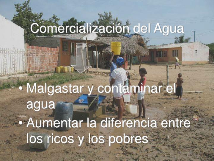 Comercialización del Agua