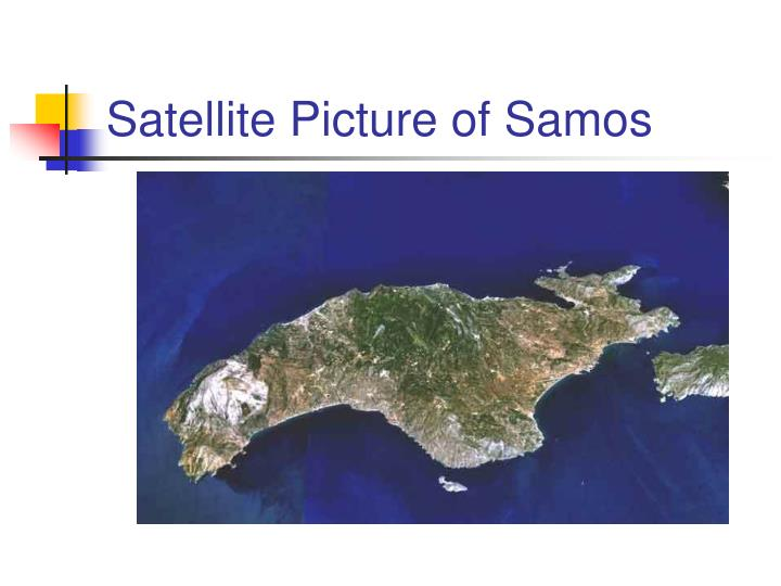 Satellite Picture of Samos
