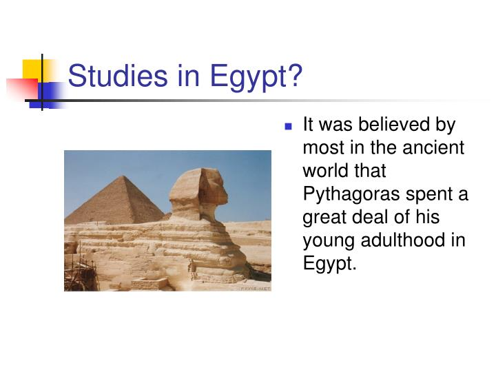 Studies in Egypt?
