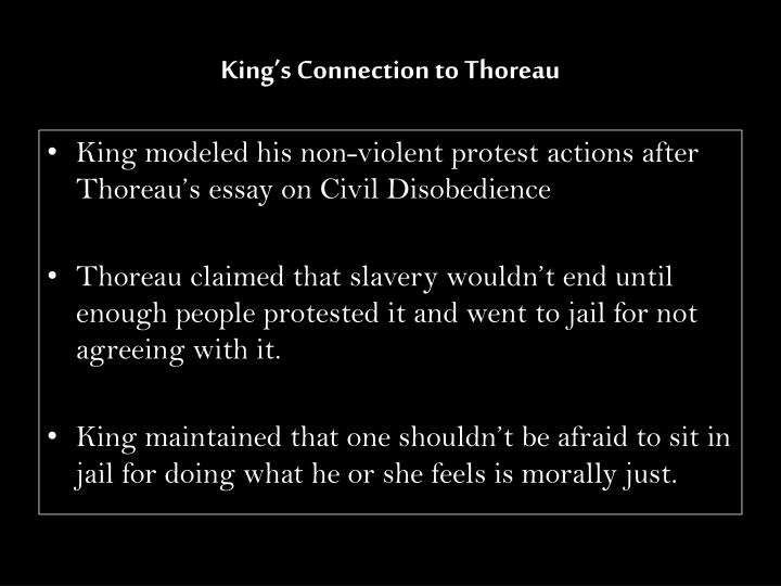 King's Connection to Thoreau