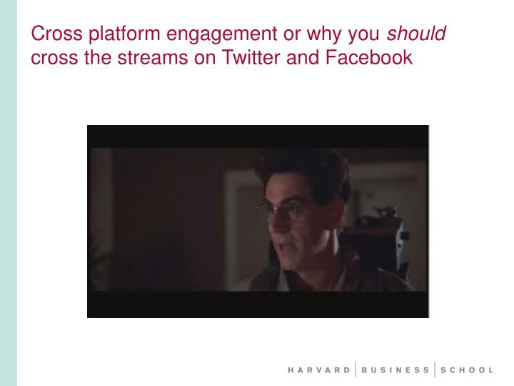 Cross platform engagement or why you