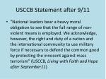 usccb statement after 9 11