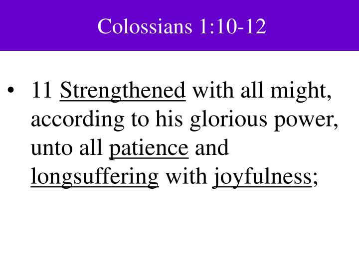 Colossians 1:10-12