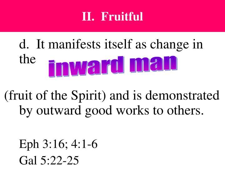 II.  Fruitful