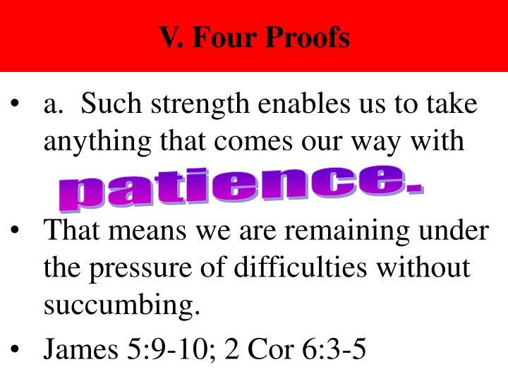 V. Four Proofs