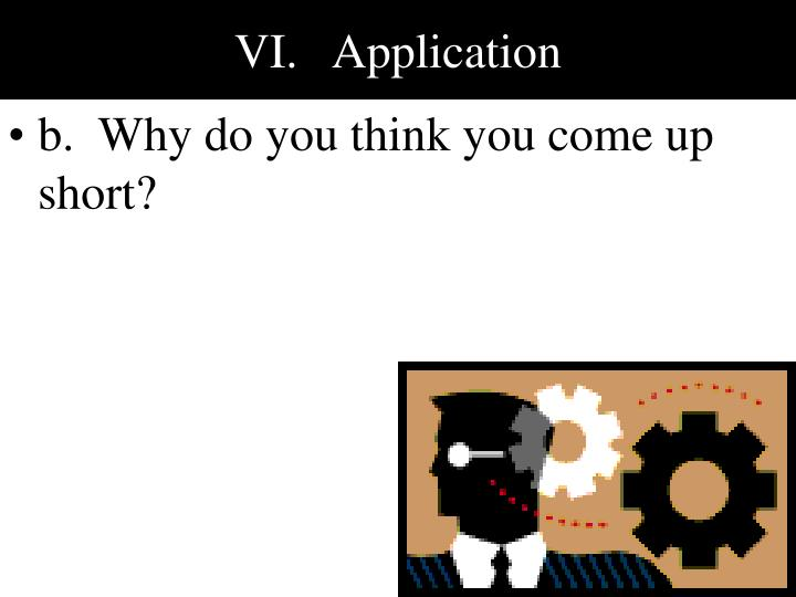 VI.   Application