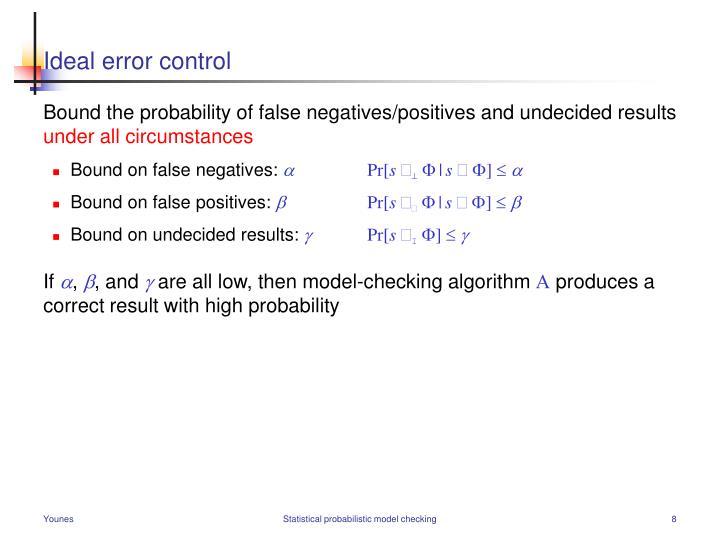 Ideal error control