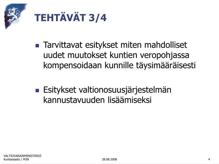 TEHTÄVÄT 3/4