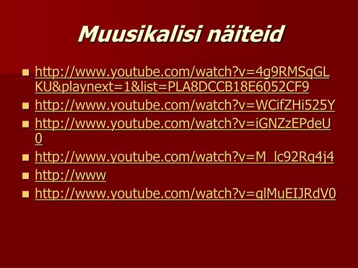 Muusikalisi näiteid