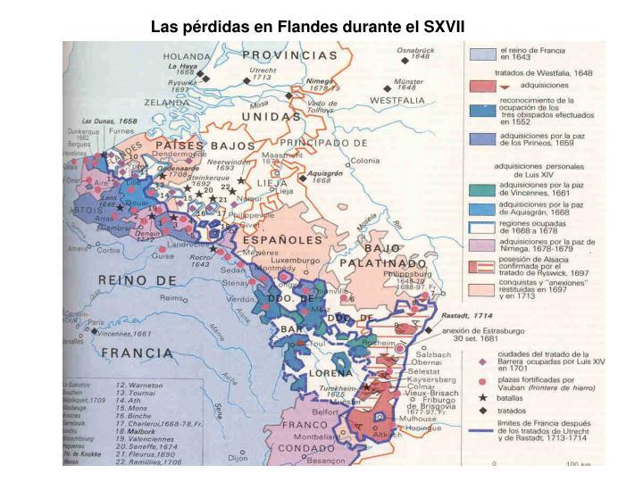 Las pérdidas en Flandes durante el SXVII