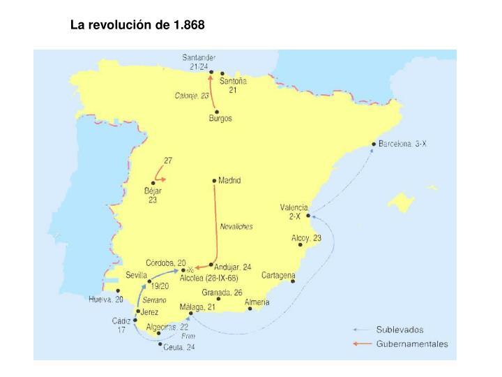 La revolución de 1.868