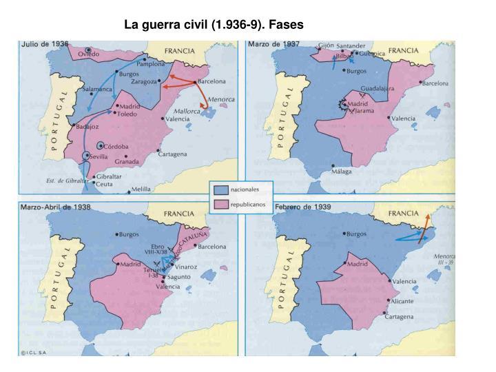 La guerra civil (1.936-9). Fases