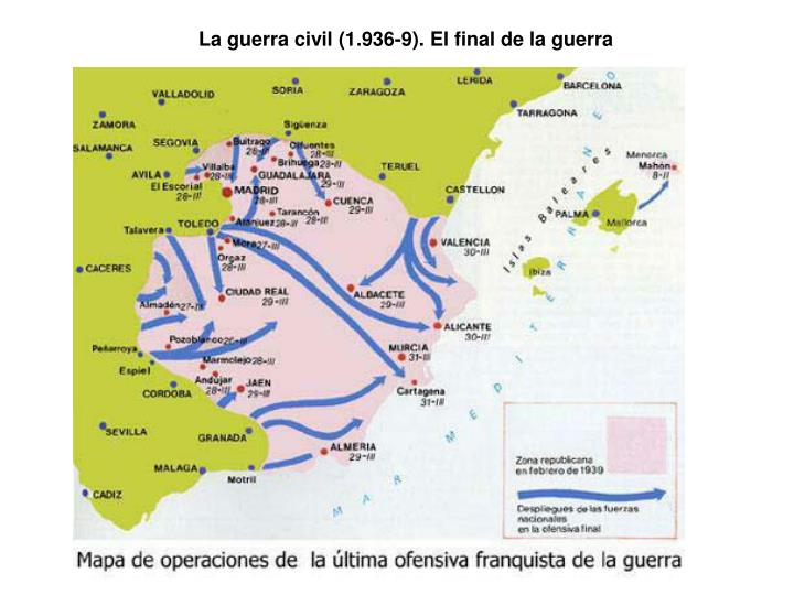 La guerra civil (1.936-9). El final de la guerra