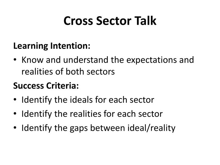 Cross Sector Talk