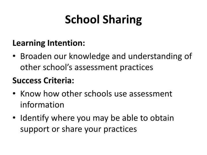 School Sharing