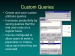 custom queries