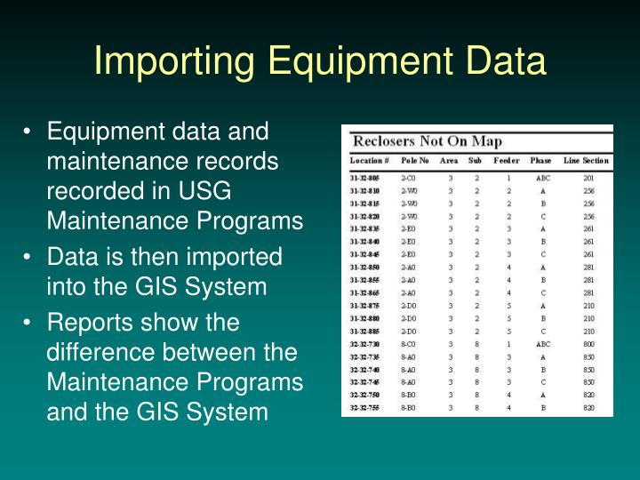Importing Equipment Data