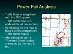 power fail analysis