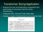 transformer sizing application
