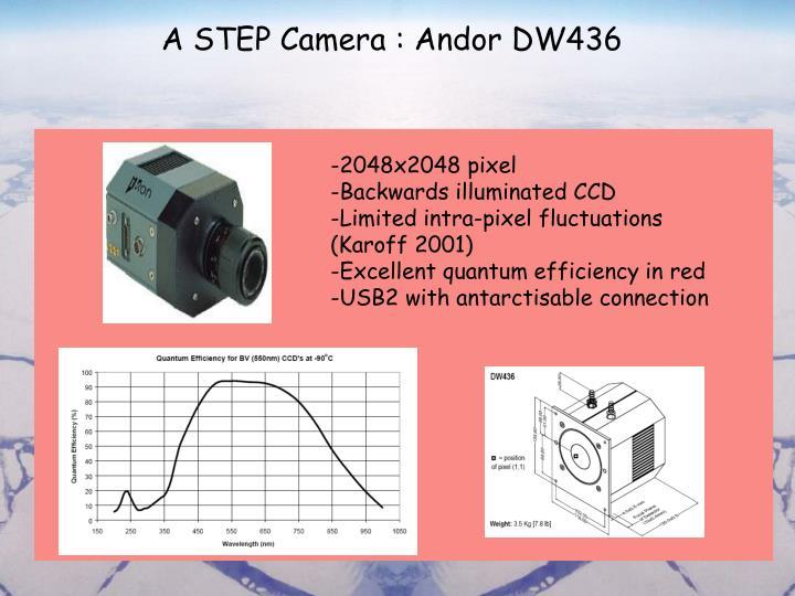 A STEP Camera : Andor DW436