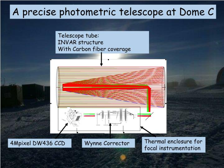 A precise photometric telescope at Dome C