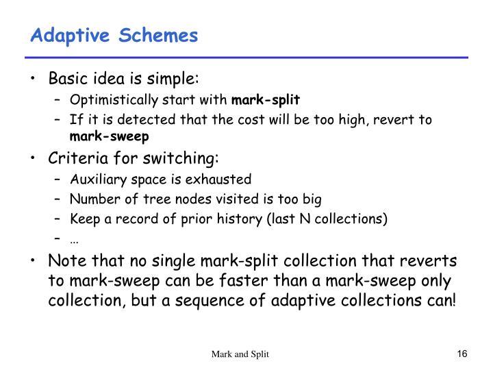 Adaptive Schemes