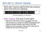 mark split vs selective sweeping