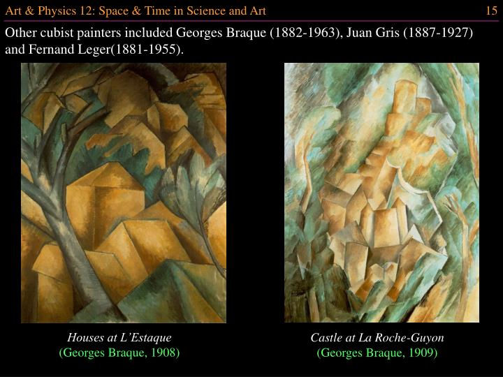 Other cubist painters included Georges Braque (1882-1963), Juan Gris (1887-1927) and Fernand Leger(1881-1955).