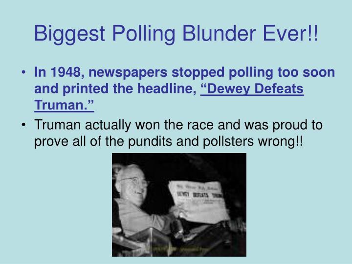 Biggest Polling Blunder Ever!!