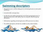 swimming descriptors
