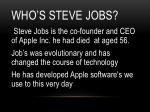 who s steve jobs