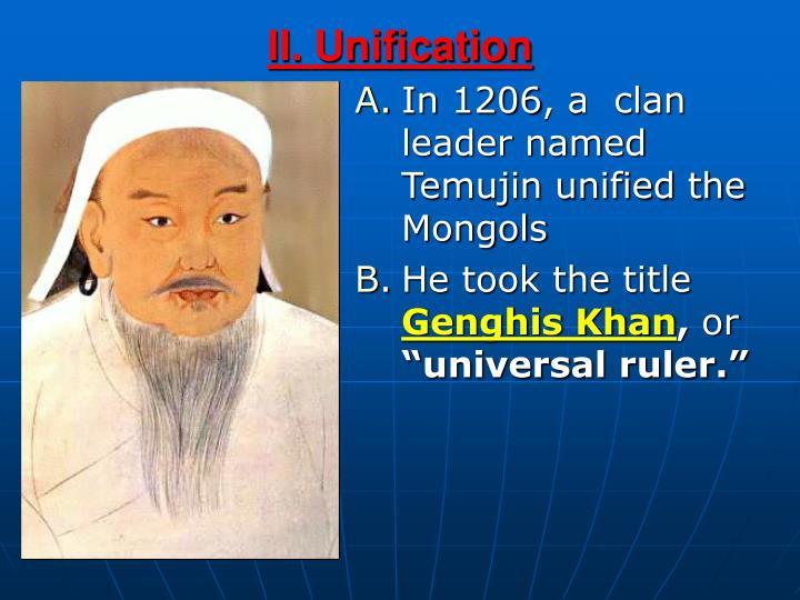 II. Unification