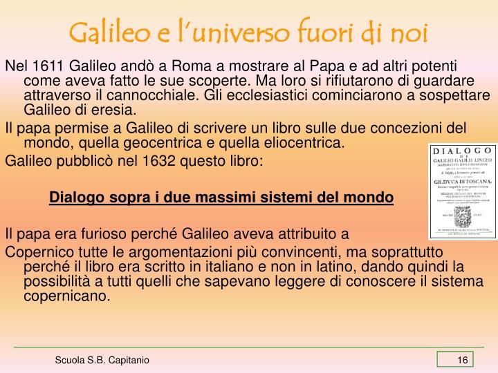 Galileo e l'universo fuori di noi