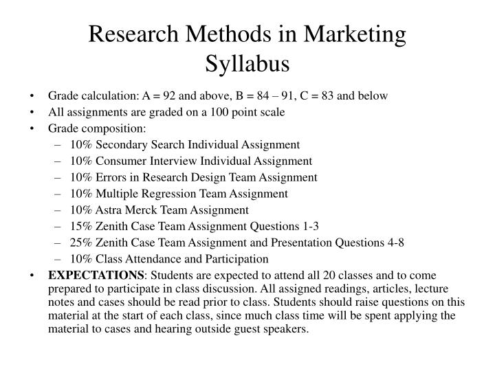 Research Methods in Marketing