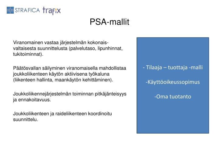 PSA-mallit