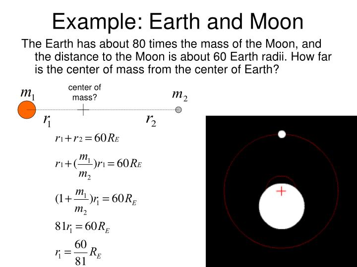 Example: Earth and Moon